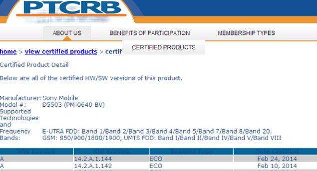 Сертификация обновления системы 14.2.A.1.144  для Sony Xperia Z, Xperia Z Ultra, Xperia Z1 Compact