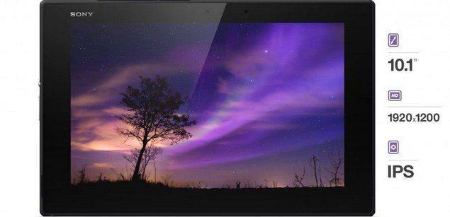 Планшет Sony Xperia Tablet Z2 -дисплей устрйоства