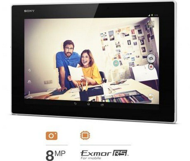 Планшет Sony Xperia Tablet Z2 - параметры камеры и 4 стереодинамика