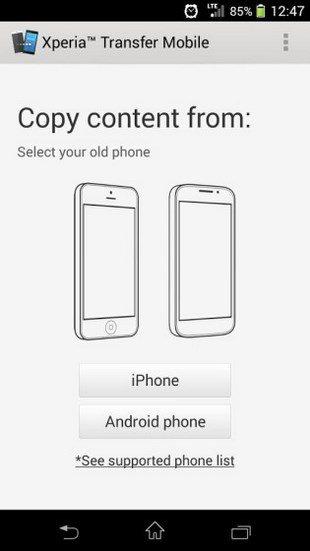 Скачать Xperia Transfer Mobile для передачи данных на Sony Xperia