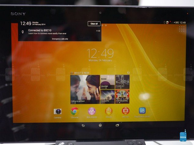 Планшет Sony Xperia Tablet Z2 в руках и первые тесты и обзоры девайса