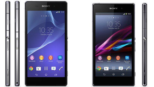 Новый Sony Xperia Z2 против Sony Xperia Z1 - сравнение дизайна