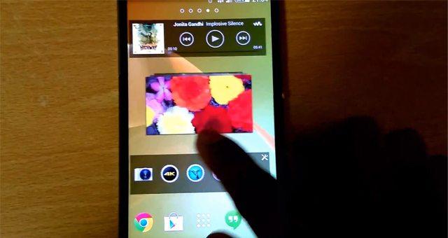 Видео работы и нового интерфейса Sony Xperia Sirius D6503