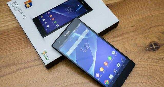 Распаковка фаблета Sony Xperia T2 Ultra Dual на фото и видео