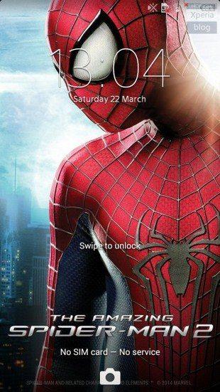 Тема The Amazing Spiderman 2 для Sony Xperia Z1, Compact, Z, Ultra, SP, ZL, ZR