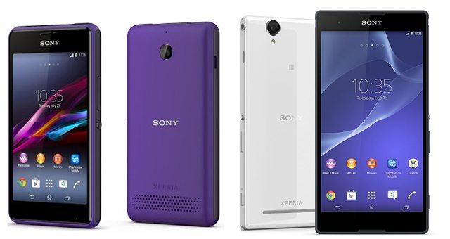 Ориентировочные цены Sony Xperia E1 Dual и Xperia T2 Ultra Dual