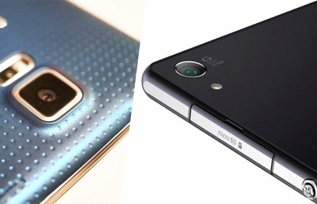 Сравнение характеристик камер в Дизайн смартфтонов Sony Xperia Z2 vs Samsung Galaxy S5