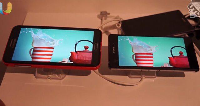 Качество цветопередачи экранов - Sony Xperia Z2 с Samsung Galaxy Note 3