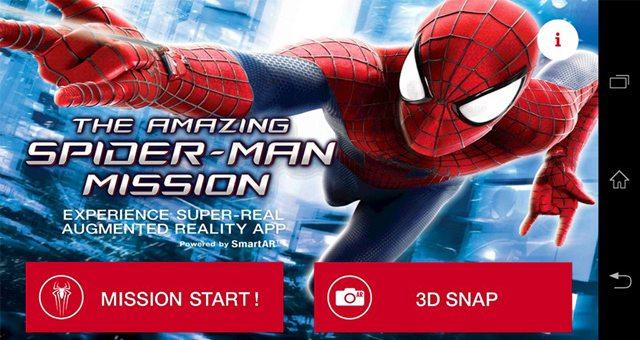 Новый AR effect Amazing Spider-Man Mission для Sony Xperia