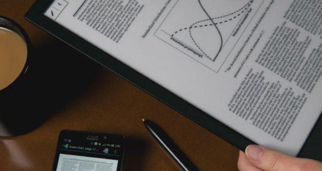 """Электронная бумага Sony Е-Ink 13.3"""" А4 выйдет в мае"""