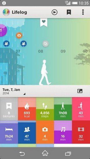 Скачать приложение LifeLog для Sony Xperia