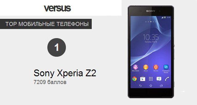Сони Икперия Z2 занял первое место в ТОП-популярных устройств на Versus.com