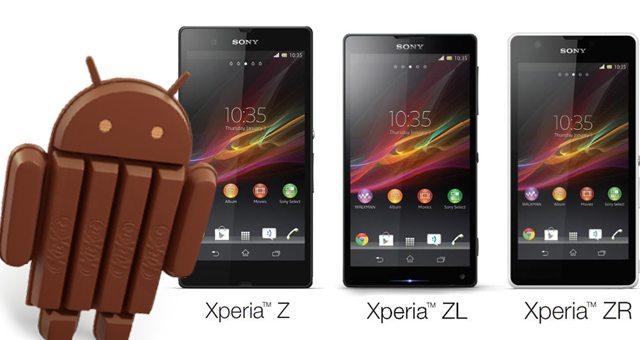 Начало обновления Sony Xperia Z, ZL, ZR, Tablet Z до Android 4.4.2, Xperia T2 Ultra, Xperia E1 и M2 в июле