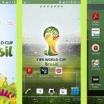 Тема для любителей футбола FIFA World Cup 2014 на Sony Xperia