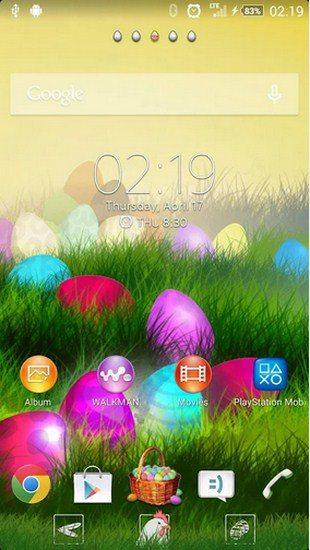 Easter – красивая пасхальная тема для Sony Xperia Z2, Z1, Compact, Z, Ultra, C, M, Tablet, ZL, ZR, SP