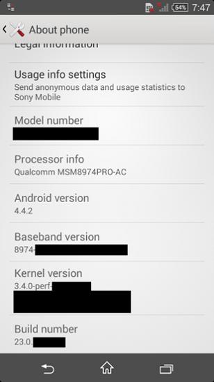 Sony Xperia Z3 Compact - характеристики и скриншот