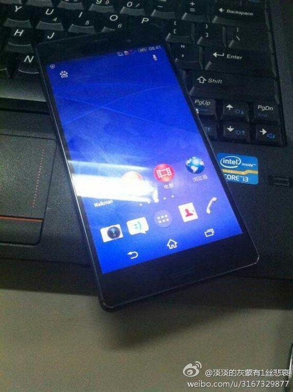 Sony Xperia Z3 фото утечка предполагаемого флагмана