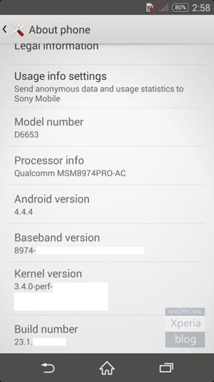 Sony Xperia Z3 - первая информация о смартфоне