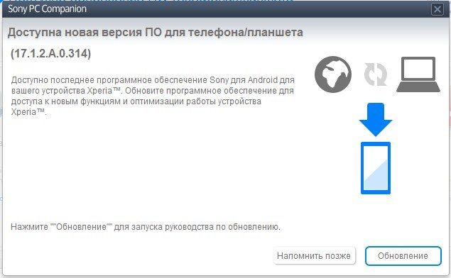 Способы обновления и восстановления смартфонов Sony Xperia