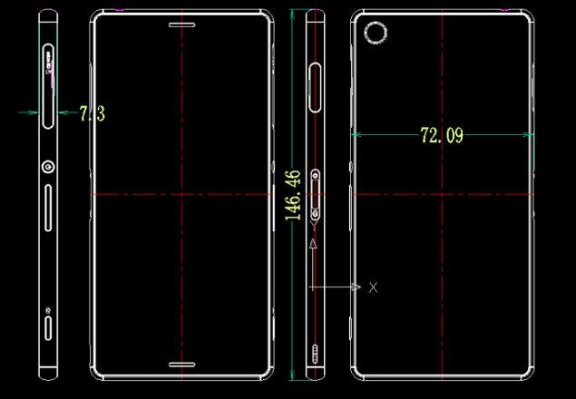 Sony Xperia Z3 - размеры смартфона