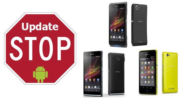 Прекращение поддержки обновления Sony Xperia SP, Xperia M и Xperia L - последние версии оновления