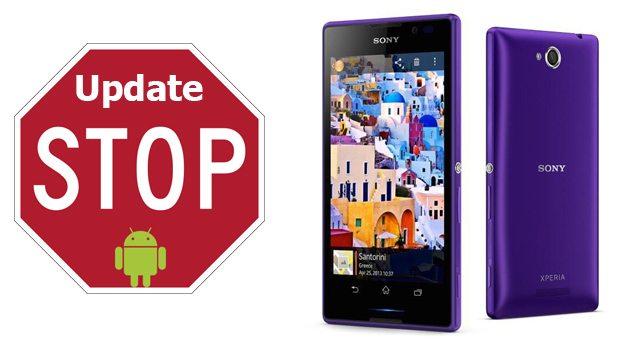 Обновлений прошивки на Sony Xperia C больше не будет