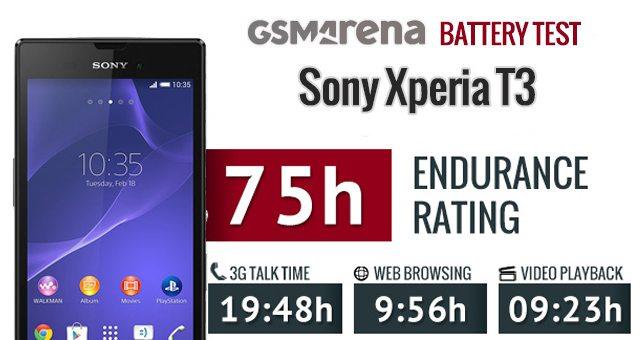 Выносливость Sony Xperia T3 - тест аккумулятора