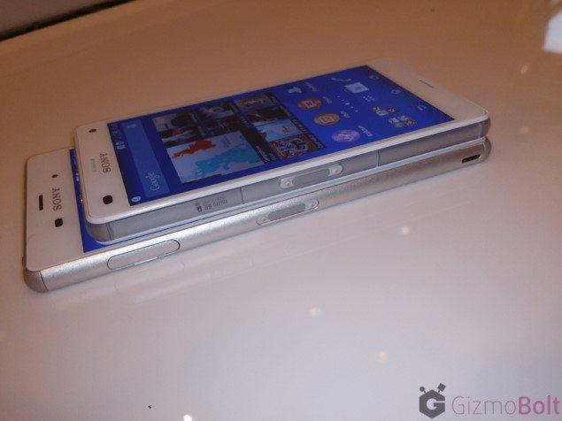 Сравнение дизайна и размеров Sony Xperia Z3 и Xperia Z3 Compact - фото подборка