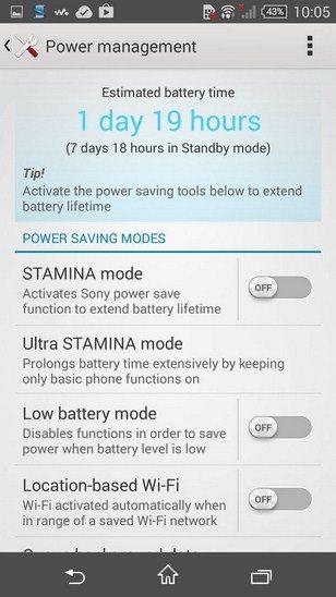 Обзор энергосберегащего режим Ultra STAMINA в Sony Xperia Z3 и Xperia Z3 Compact