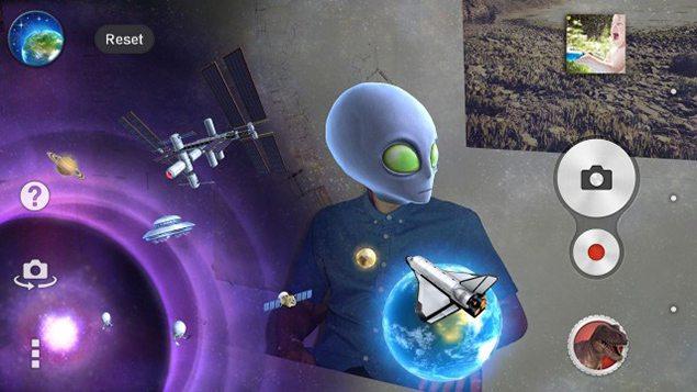"""Тема """"Космос"""" для AR-эффект на Сони Иксперия"""