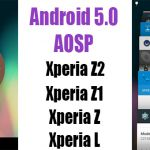 Поддержка Android 5 Lollipop AOSP моделями Xperia Z2, Z1, Z, L