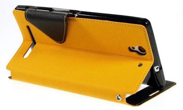 Стильный, яркий, качественный чехол-подставка для Sony Xperia C3 разных цветов