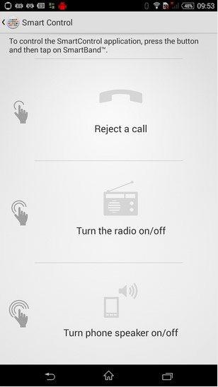 Программа Smart Control - управляйте функциями смартфона с помощью касаний к SmartWath или SmartBand