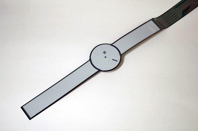 Умные часы из электронной бумаги от Sony уже в разработке