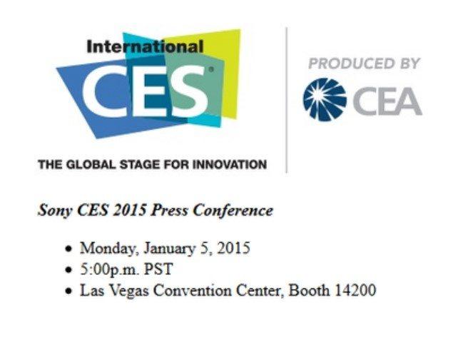 Время проведения конференции Sony CES 2015
