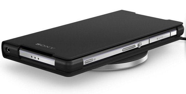 Видео распаковки и работы комплекта беспроводной зарядки Sony Xperia Z3 - чехол и станция