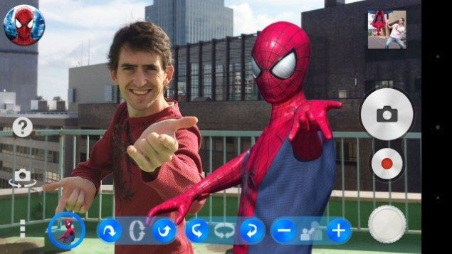 AR эффект The Amazing Spider-Man 2 для Sony Xperia Z3, Z2, Z1, Compact, Z, ZR, ZL, M2, C, T2, T3, SP, C3 Ultra