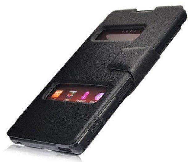 Кожаный чехол для Sony Xperia C со смарт-окошками