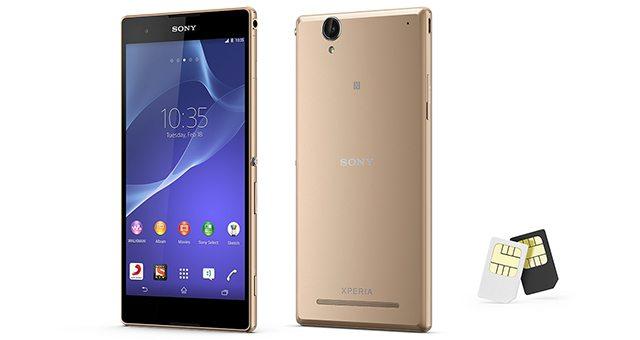 Золотистый Sony Xperia T2 Ultra Dual Gold - новый цвет корпуса