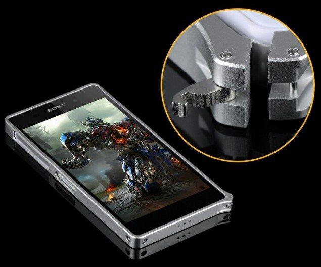 Бампер для Sony Xperia Z2 (Иксперия Z2) из алюминия
