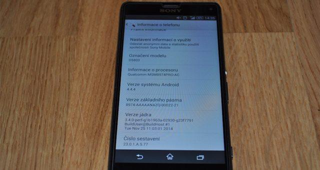 Обновление прошивки 23.0.1.A.5.77 для Xperia Z3 и Xperia Z3 Compact для России