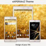 Gold Theme – золотая тема на Sony Xperia