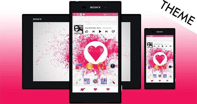 Красивая Xperia Тема Love Theme для Sony Xperia Z3, Z2, Z1, Compact, Z, ZR, ZL, M2, C, T2, T3, SP, C3 Ultra