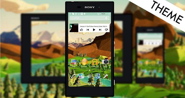 """Polygon L – """"многоугольная"""" природа для Sony Xperia Z3, Z2, Z1, Compact, Z, ZR, ZL, M2, C, T2, T3, SP, C3 Ultra"""