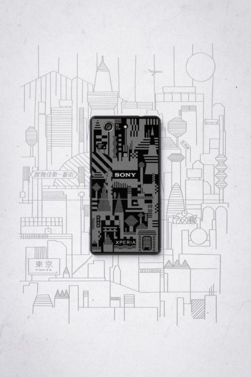 Серия Sony Xperia Z3 с гравирровками на задних крышках