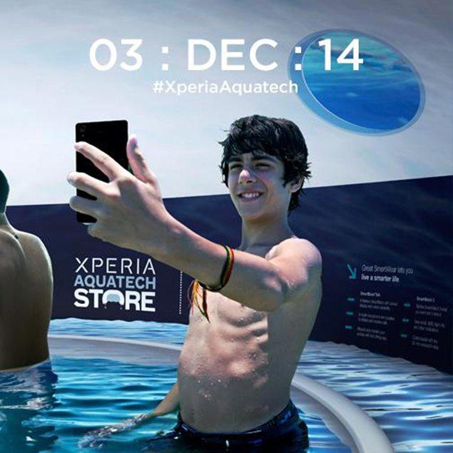 Подводные магазин Sony  Xperia Aquatech Store - тизер и информация