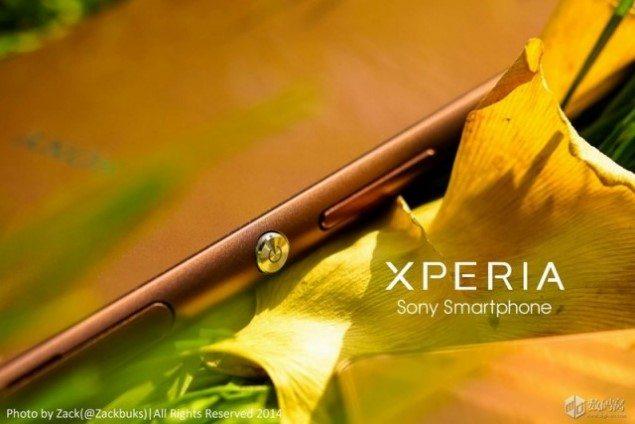 Фото Sony Xperia Z3 Cooper - красивый цвет красивого смартфона