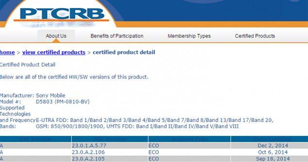 Прошла сертификацию прошивка на Сони Иксперия Z3 и Иксперия Z3 Компакт - номер сборки 23.0.1.A.5.77