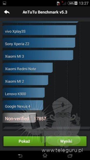 Первые фотографии прототипа Sony Xperia E4 - результат AnTuTu