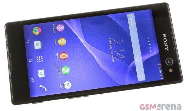 Обзор Sony Xperia C3 - дисплей смарфтона